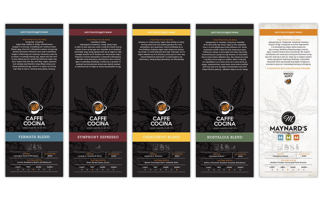Caffe Cocina Coffee Bag Labels